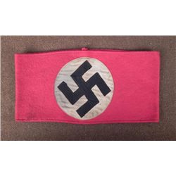 NAZI/NSDAP EARLY PARTY ARMBAND MULTI PC,PARTIAL RZM TAG