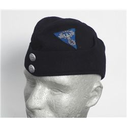 NSKK WWII Nazi Motorcycle Cap Hat w/RZM Tag & Swastika