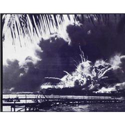 Aluminum Photo Print WWII USS Shaw Pearl Harbor 1941