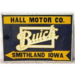 Buick Hall Motor Co. Single-sided Tin Sign