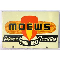Moews Corn Belt Double-sided Flanged Sign