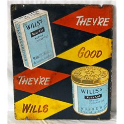 Wills's Navy Cut Cigarette & Tobacco Sign