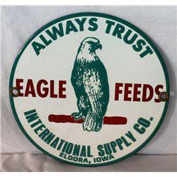 Eagle Feeds Porcelain Single-sided Sign