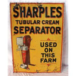 Sharples Tubular Cream Separator Tin Sign