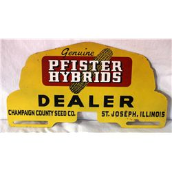 Pfister Hybrids Dealer License Plate Topper
