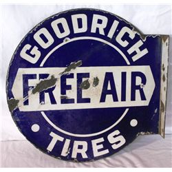 Goodrich Tire Flanged Double-sided Porcelain Sign