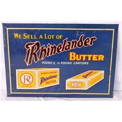 Rhinelander Butter Single-sided Tin Sign