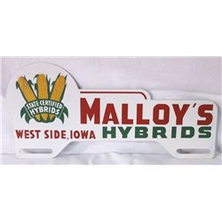 Malloy's Hybrids License Plate Topper