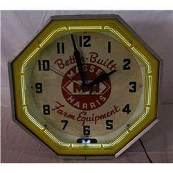 Massey-Harris Farm Equipment Neon Clock