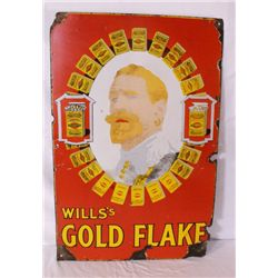 Wills's Gold Flake Cigarettes Single-sided Sign