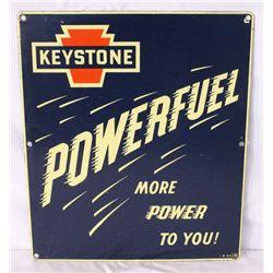 Keystone Powerfuel Single-sided Porcelain Sign