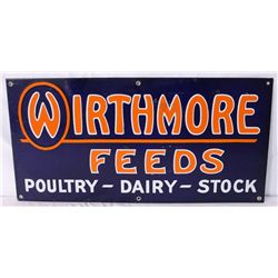 Wirthmore Feeds Single-sided Porcelain Sign