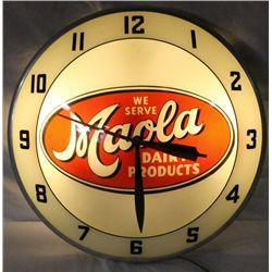 Maola Dairy Products Light-up Double Bubble Clock