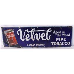 Velvet Pipe Tobacco Single-sided Porcelain Sign