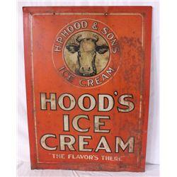 Hood's Ice Cream Single-sided Tin Sign