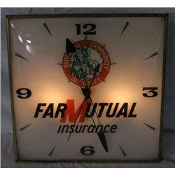 Farmutual Insurance Light-up Clock