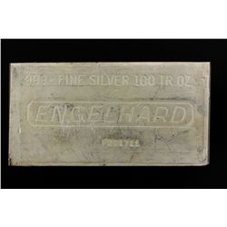 SILVER BAR:  [1] 100 troy oz. Engelhard .999 silver bar