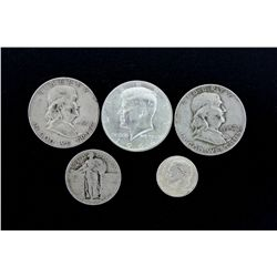 COINS:  [9,249]  Assorted United States 90% silver coins;  [halves, quarters, dimes]  Face Value $1,