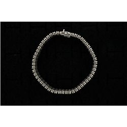 BRACELET: Mens 10kw illusion set diamond link bracelet; 216 rb dias, 2.0mm = est 6.48cttw, Fair-Good