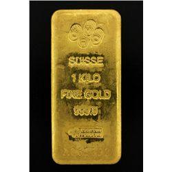 BULLION: PAMP Suisse 1 Kilo fine gold bar; 999.9 Au; Essayeur Fondeur; Serial A061692; 998.4 grams.