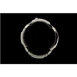 BRACELET: [1] 18KWG bracelet (9.0 in.) set with 156 rbc dia.s, TWA 12.55 cts, I/J, SI1-SI2; 124.2 gr