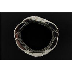 BRACELET:  [1] 10KWG 9'' bracelet set with rd dia.s, TWA 37.0 cts., H-J, SI1-I1;  292.6 grams  [4 di