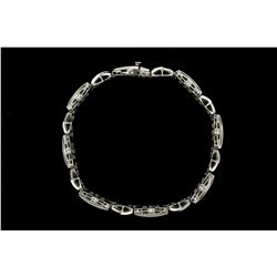 BRACELET:  [1] 14KWG bracelet set with 173 rd diamonds, approx. 2.50 cttw, I/J, SI2-I1; 8 1/2''s;  3