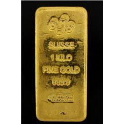 BULLION: PAMP Suisse 1 Kilo fine gold bar; 999.9 Au; Essayeur Fondeur; Serial A308974; 998.5 grams.