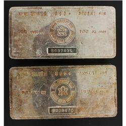 SILVER BAR:  [1] 100 troy oz. Royal Canadian Mint .999 silver bar SILVER BAR:  [1] 100 troy oz. Roya