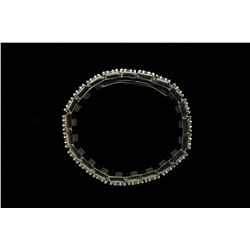 BRACELET: Mens 10kw diamond link bracelet; 504 rb dias, 2.4mm to 2.9mm = est 28.35cttw, V.Good/G-N/I