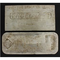 BULLION:  [1]  Johnson Matthey Silver bar, 100 troy oz, .999BULLION:  [1]  Engelhard Silver bar, 100