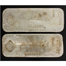 BULLION:  [1]  Johnson Matthey Silver bar, 100 troy oz, .999BULLION:  [1]  Johnson Matthey Silver ba