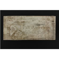 BULLION:  [1]  Pan American Silver Corp. Silver bar, 100 troy oz, .999