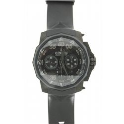 WATCH: Mens blackened st.steel Corum Admirals Cup Black Hull 48 Limited Edition chronograph wristwat