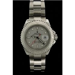 ROLEX: Mens st.steel & platinum O.P. Yacht-Master Date wristwatch; uni-directional Rolesium bezel; p