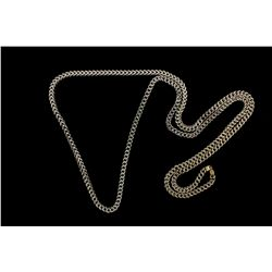 CHAIN: Unisex 10kw square curb link chain necklace (hollow); 4.47mmW x 4.55mmT x 41'' long; 10ky lob
