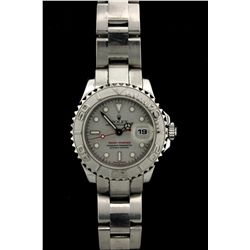 ROLEX: Ladys st.steel & platinum Rolex O.P. Yacht-Master Date wristwatch; platinum bi-directional be