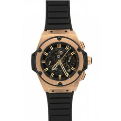 WATCH: Mens 18kr & black kevlar Hublot Big Bang King Power wristwatch; 52mm case; black skeletonized