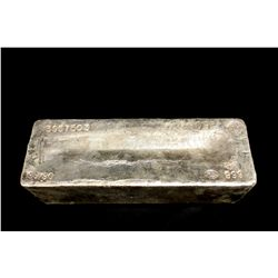BULLION: 2009 Johnson Matthey fine silver bar; 999 silver; 13.1'' x 4.75'' x 3.8''; Serial 3957503;