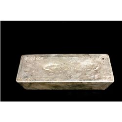 BULLION: 2009 Johnson Matthey fine silver bar; 999 silver; 13.1'' x 4.75'' x 3.8''; Serial 3953608;