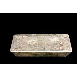 BULLION: 2009 Johnson Matthey fine silver bar; 999 silver; 13.1'' x 4.75'' x 3.8''; Serial 3953608;