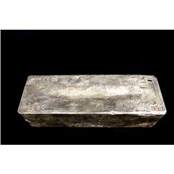BULLION: 2009 Johnson Matthey fine silver bar; 999 silver; 13.1'' x 4.75'' x 3.8''; Serial 3953309;