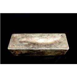 BULLION: 2009 Johnson Matthey fine silver bar; 999 silver; 13.1'' x 4.75'' x 3.8''; Serial 3953603;