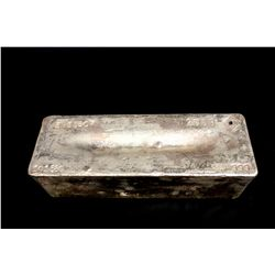 BULLION: 2009 Johnson Matthey fine silver bar; 999 silver; 13.1'' x 4.75'' x 3.8''; Serial 3953607;