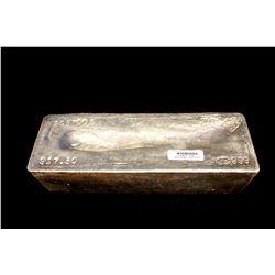 BULLION: 2002 Johnson Matthey fine silver bar; 999 silver; 13.1'' x 4.75'' x 3.8''; Serial 2057005;