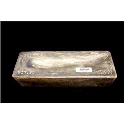 BULLION: 2002 Johnson Matthey fine silver bar; 999 silver; 13.1'' x 4.75'' x 3.8''; Serial 2057005;