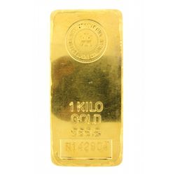 BULLION: Royal Canadian Mint 24kt fine gold 1 Kilo bar; 999.9 fine gold; 4.35'' x 2.00'' x 0.395'';