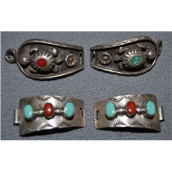 TWO SETS OF NAVAJO WATCH TIPS