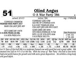 Lot 51 - O A War Party 386 - Olind Angus