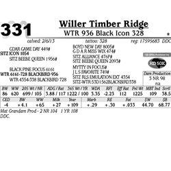 Lot 331 - WTR 936 Black Icon 328 - Willer Timber Ridge